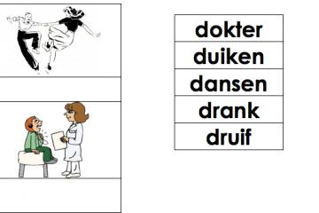 Werkbladen letter d