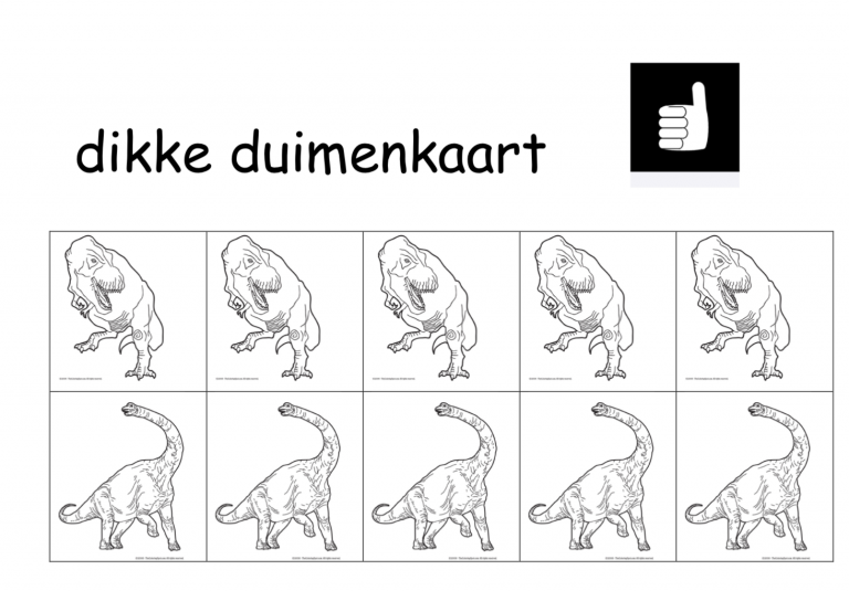Dikke duimenkaart dinosaurus