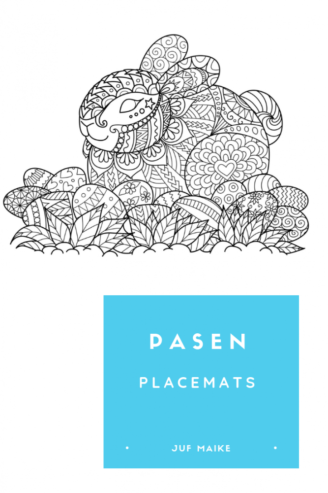 Pasen placemats