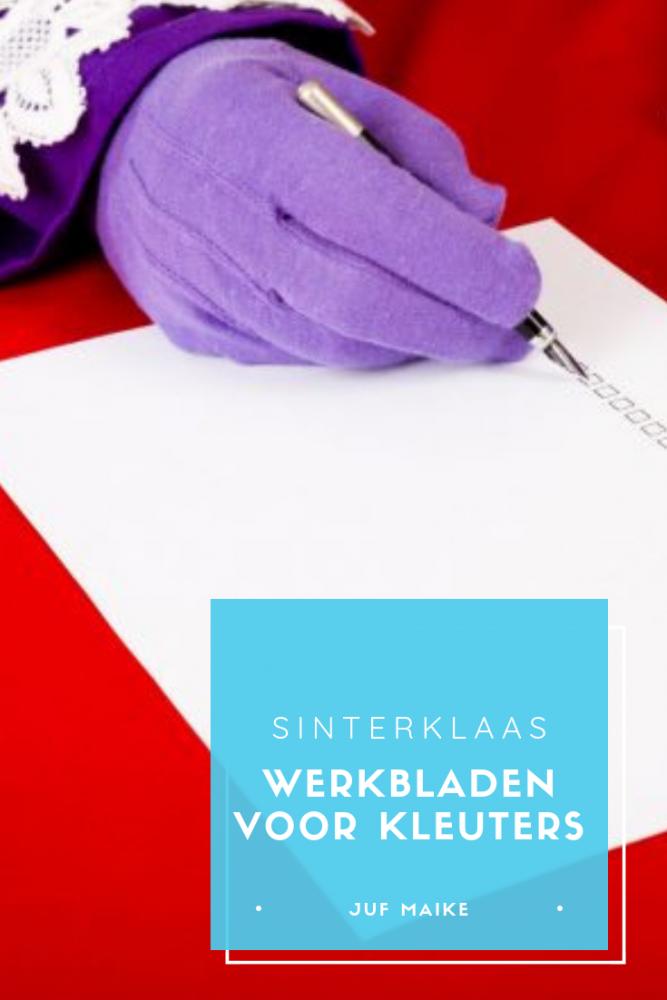 Sinterklaas werkbladen voor kleuters