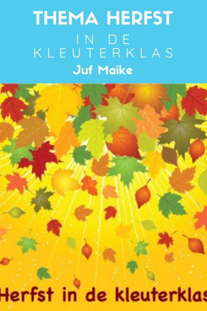 Thema herfst; Thema herfst is heerlijk om mee aan het werk te gaan. Hier vind je kring herfst en tips voor hoeken.