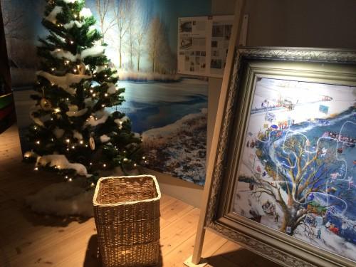 Kerstboom en winterpuzzel Nederland