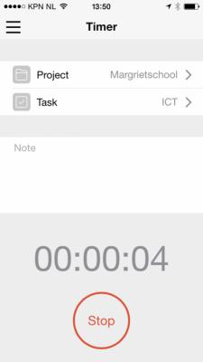 App Paymo op iPhone