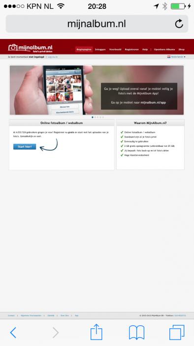 App mijnalbum.nl