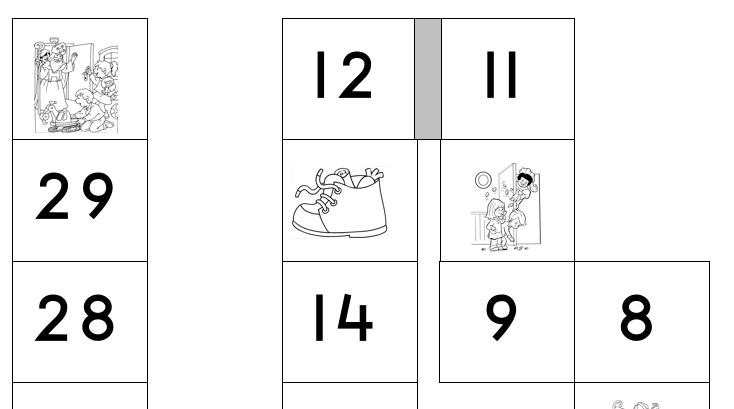 Bordspel Sinterklaas met opdrachten op de cijfers