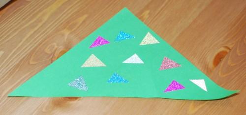 Boom met washi tape driehoekjes