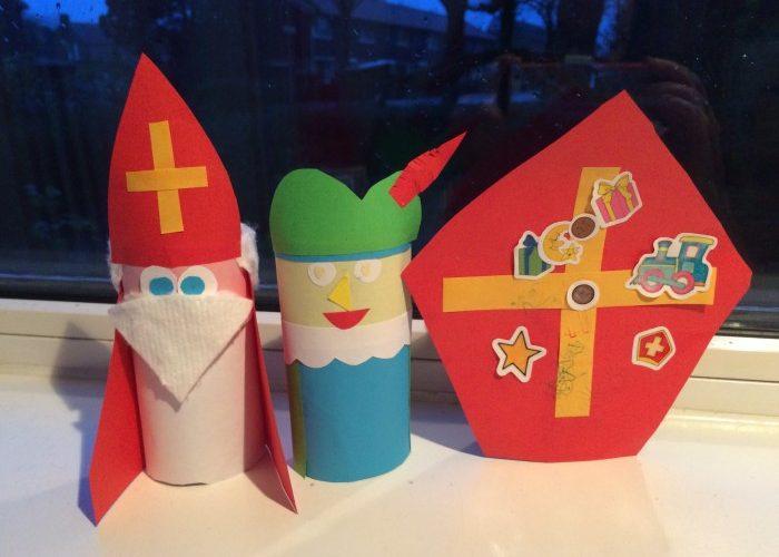 Sinterklaas knutselen wc-rol knutsel