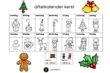 aftelkalender kerst zonder datum