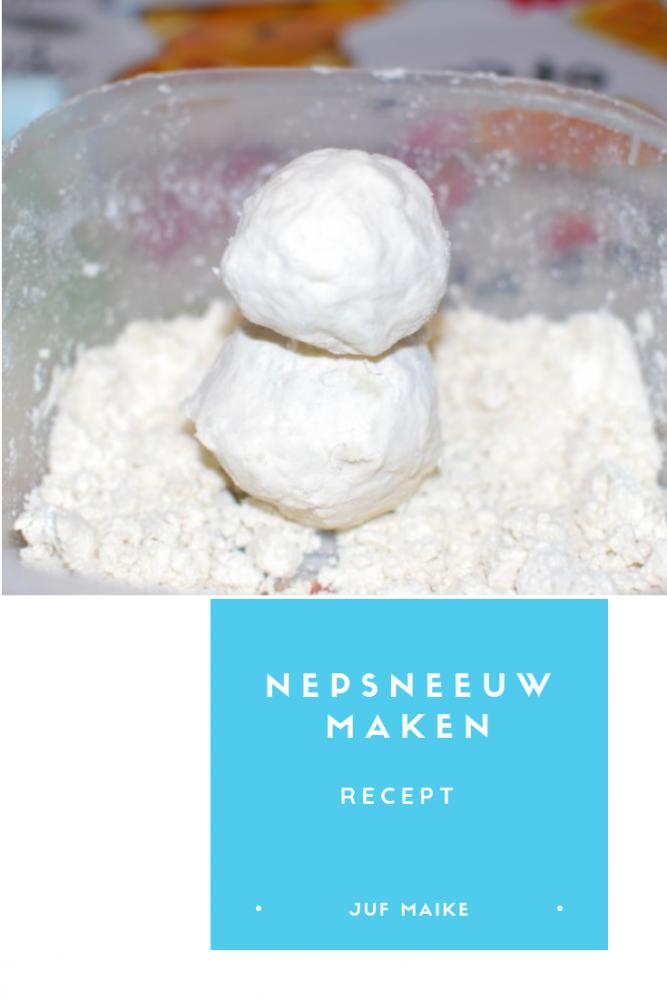Nepsneeuw maken: recept