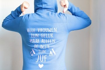 juf of meester sweater