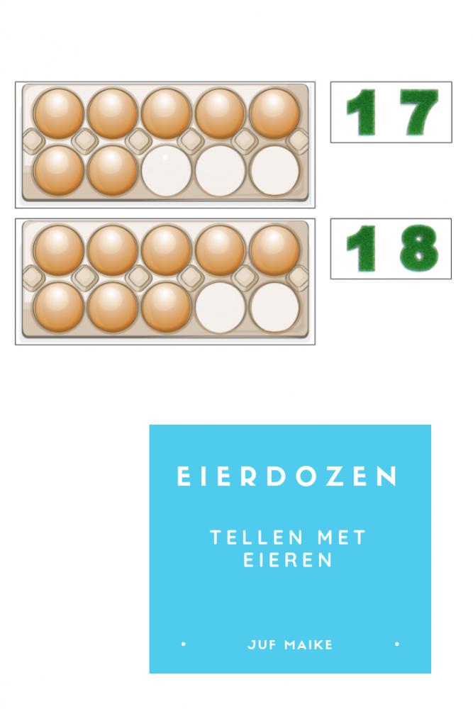 Eierdozen: tellen met eieren