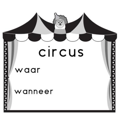 Aankondiging circus tent