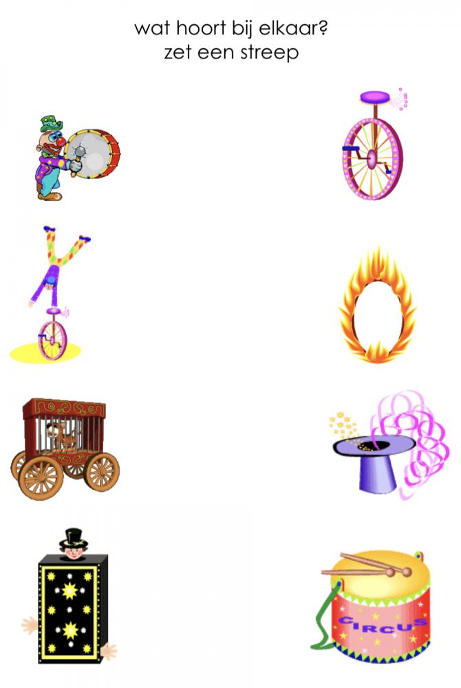 Werkblad circus