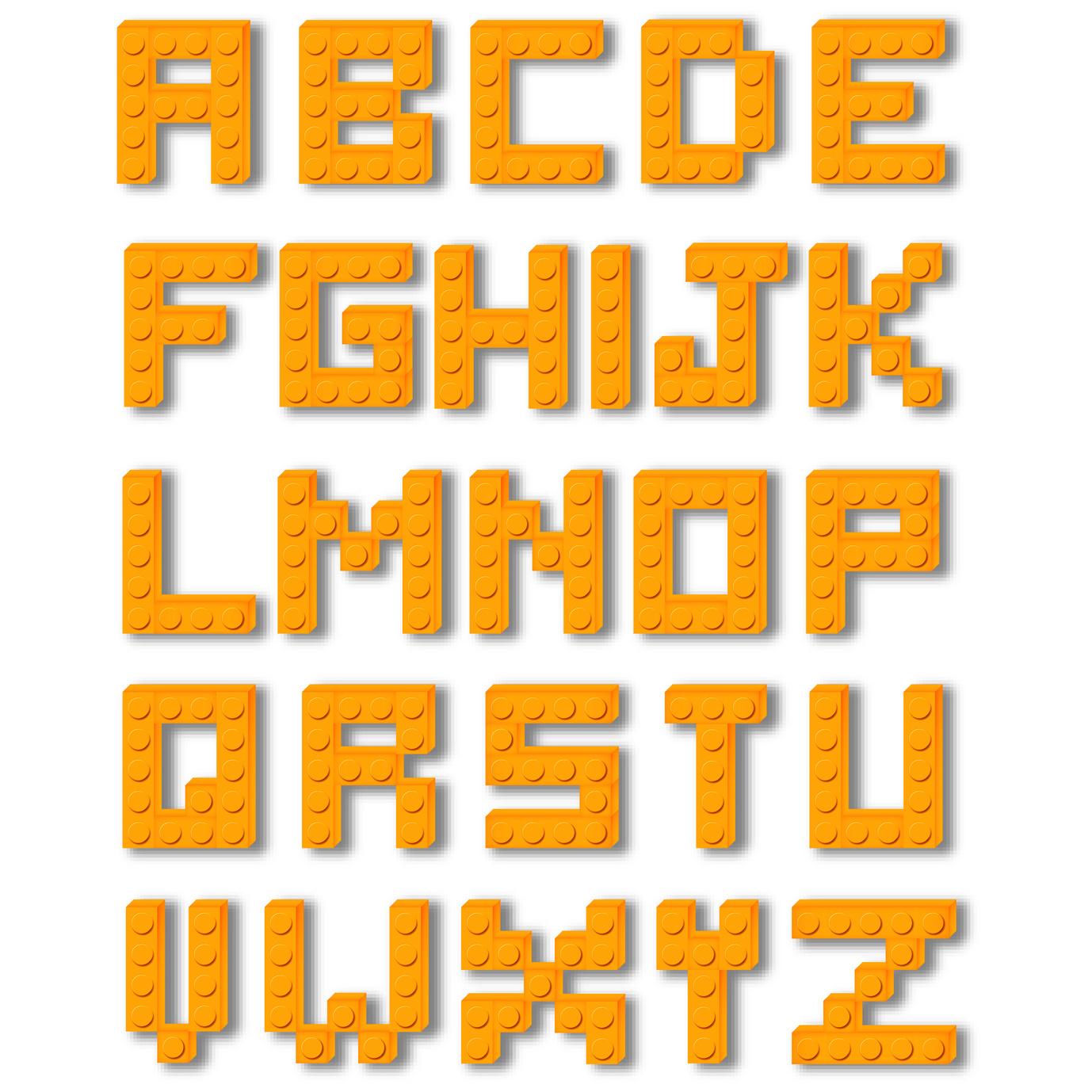 Letters alfabet Lego