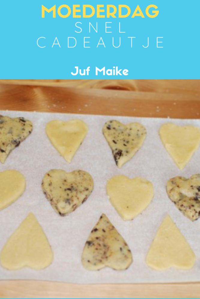 Snel cadeau Moederdag; Recept voor koekjes