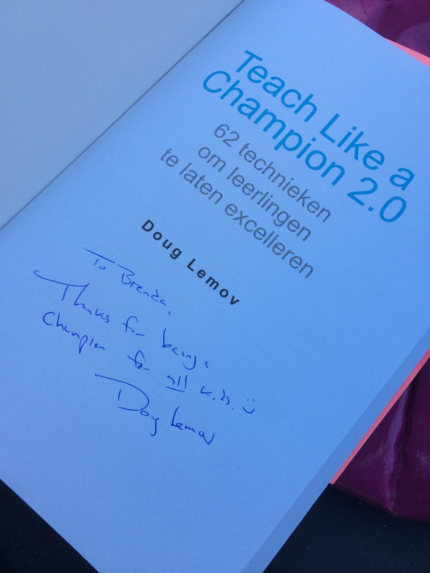 Gesigneerd boek Teach like a champion 2.0