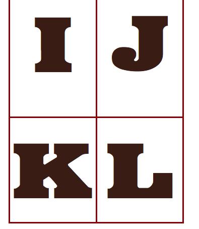 Chocoladeletter kaart download puur