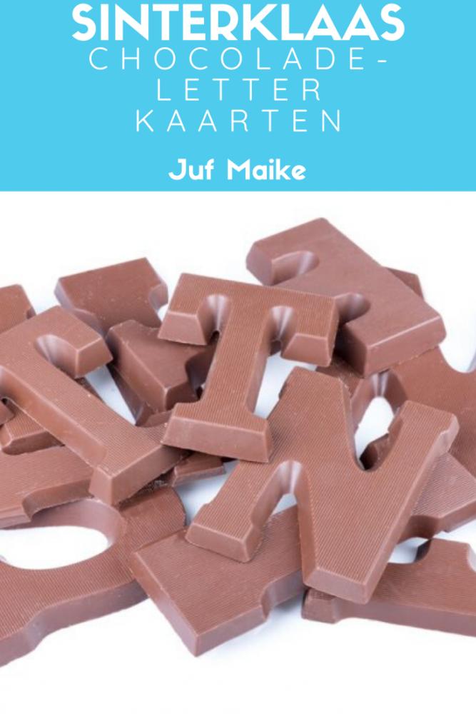 Chocoladeletterkaarten downloads + lestips voor thema Sinterklaas