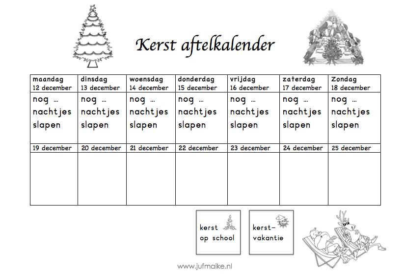 Aftelkalender kerst 2016
