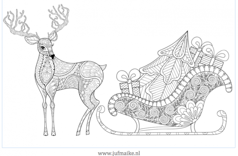 Leuke Kleurplaten Voor Kerst Placemat Kerst Juf Maike Tips Voor De Ontwikkeling
