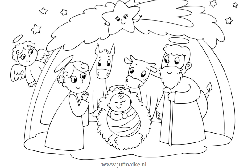 Kleurplaat Kerst Peuters Placemat Kerst Juf Maike