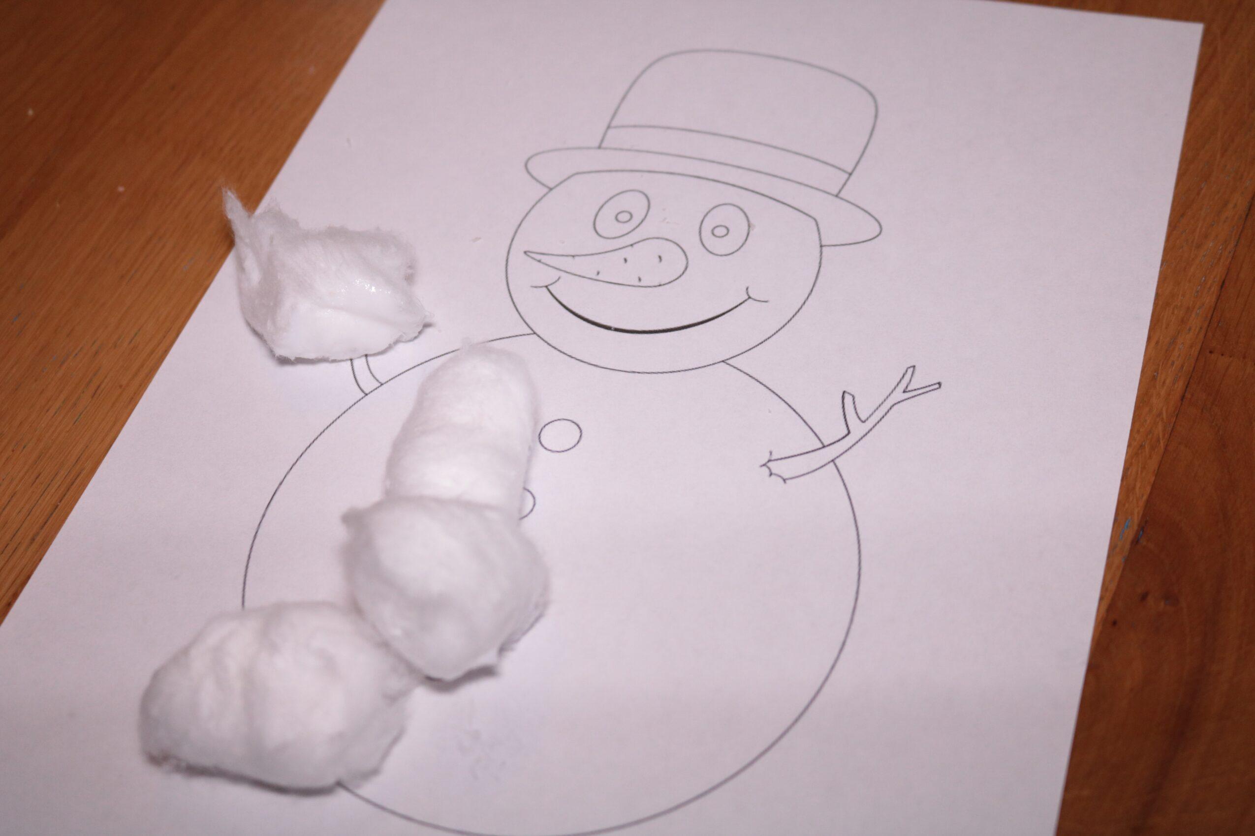 Sneeuwpop beplakken