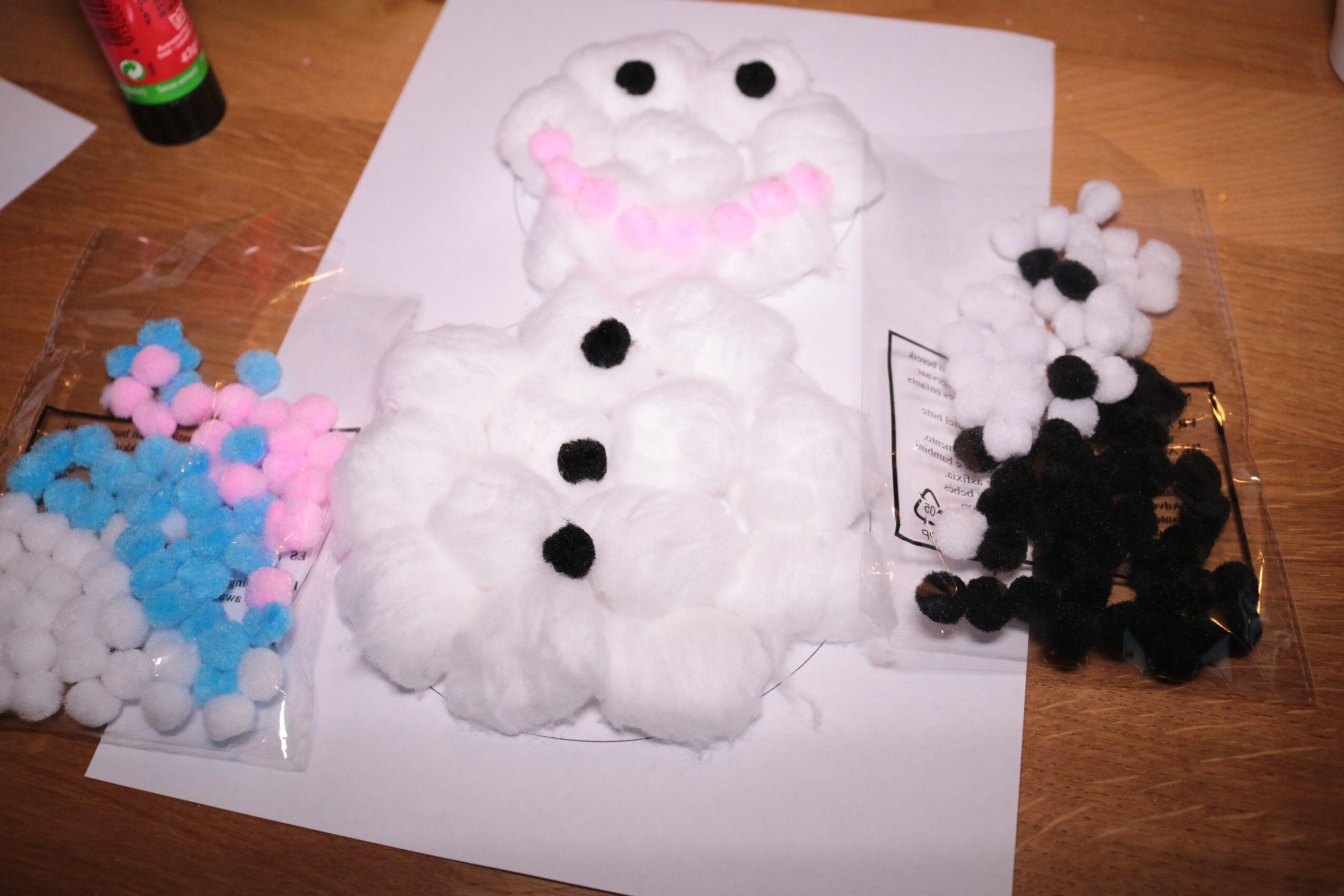 Sneeuwpop met bolletjes