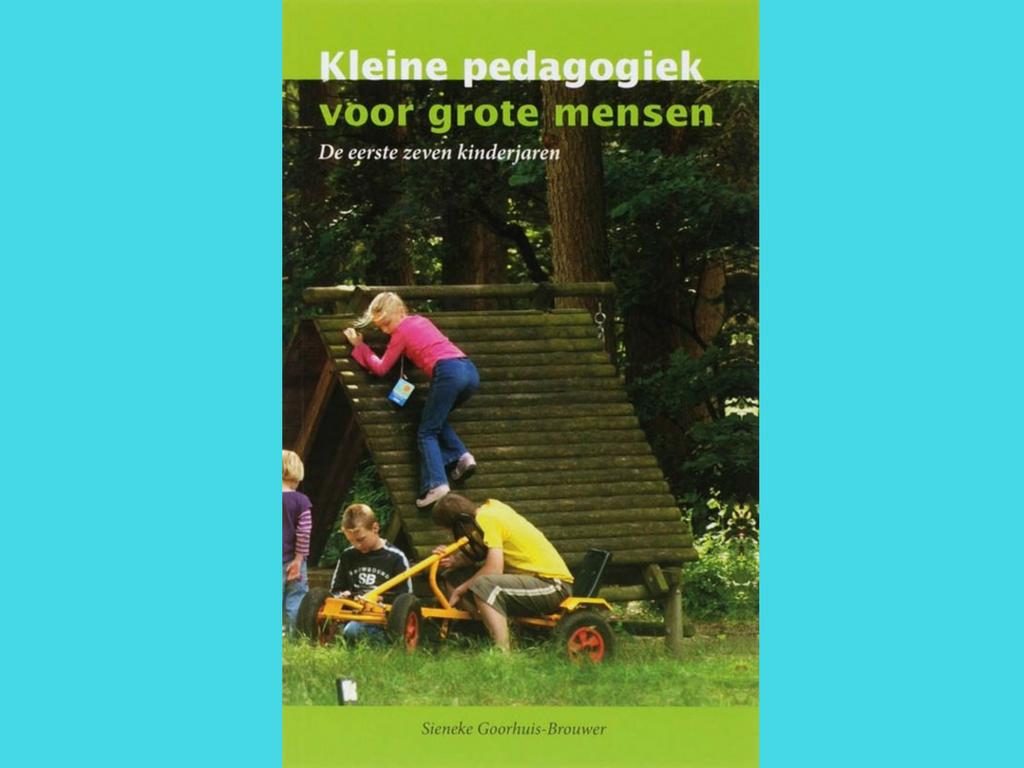 Kleine pedagogiek voor grote mensen