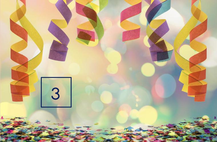 Cijfer- of kleikaarten carnaval