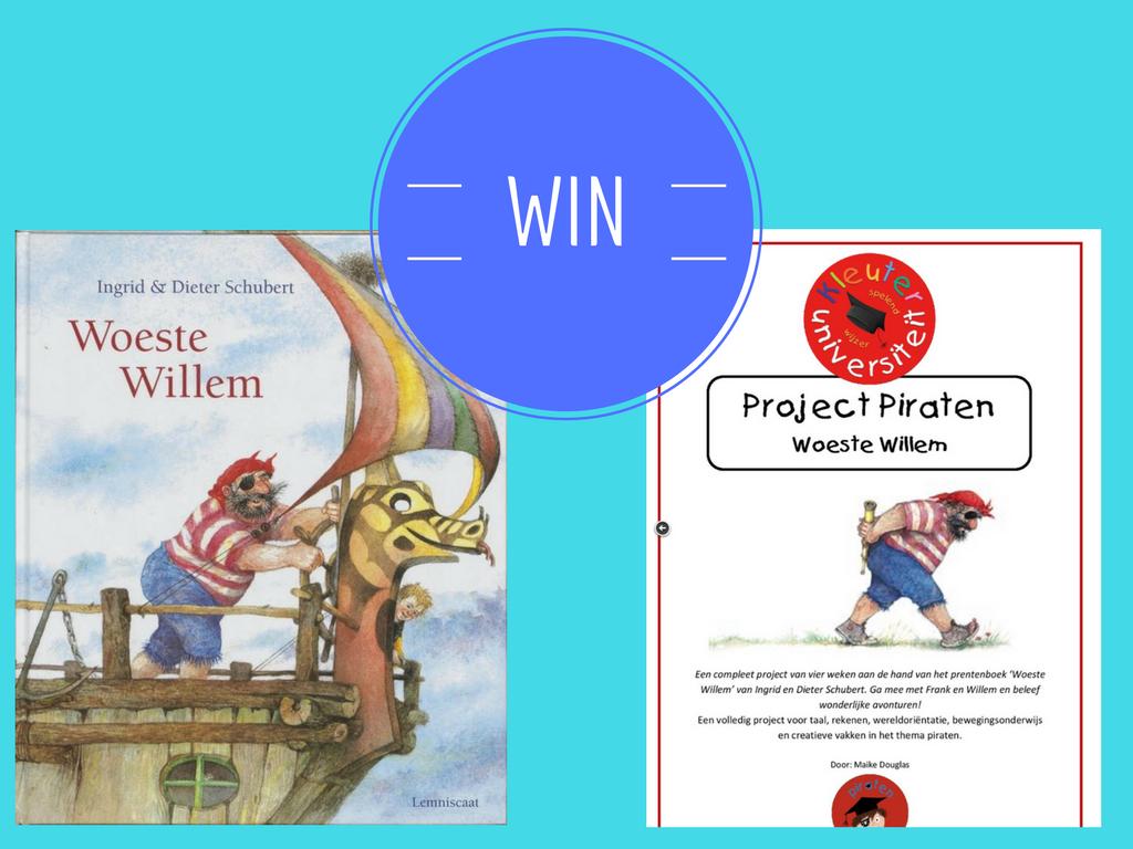 WIN project piraten en boek Woeste Willem