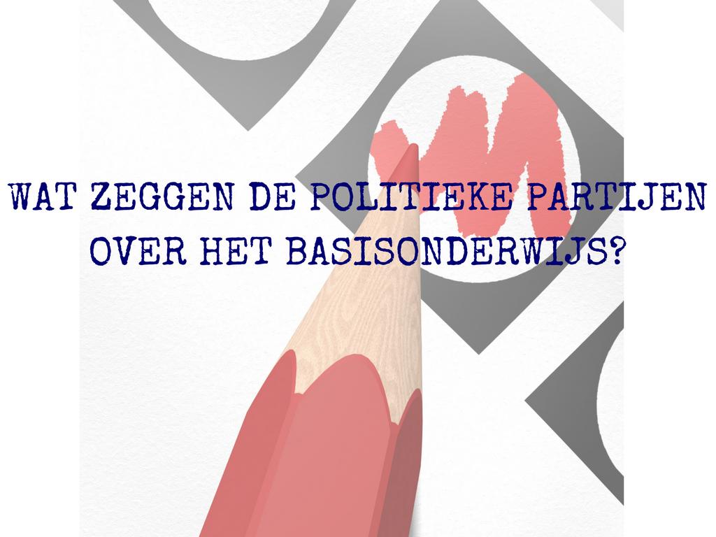 Wat zeggen de politieke partijen over het basisonderwijs?