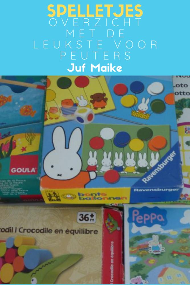 Leuke spelletjes voor peuters; Peppa Pig modderpoelenspel, nijntje ballonnen feest, vissen en nog meer