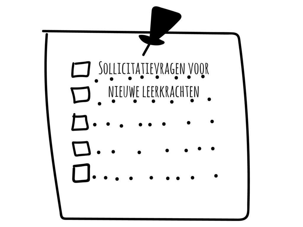 Sollicitatievragen voor nieuwe leerkrachten