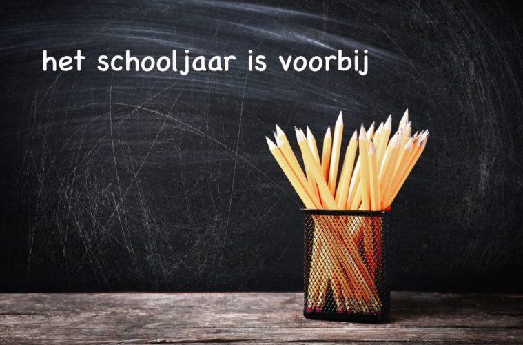 het schooljaar is voorbij