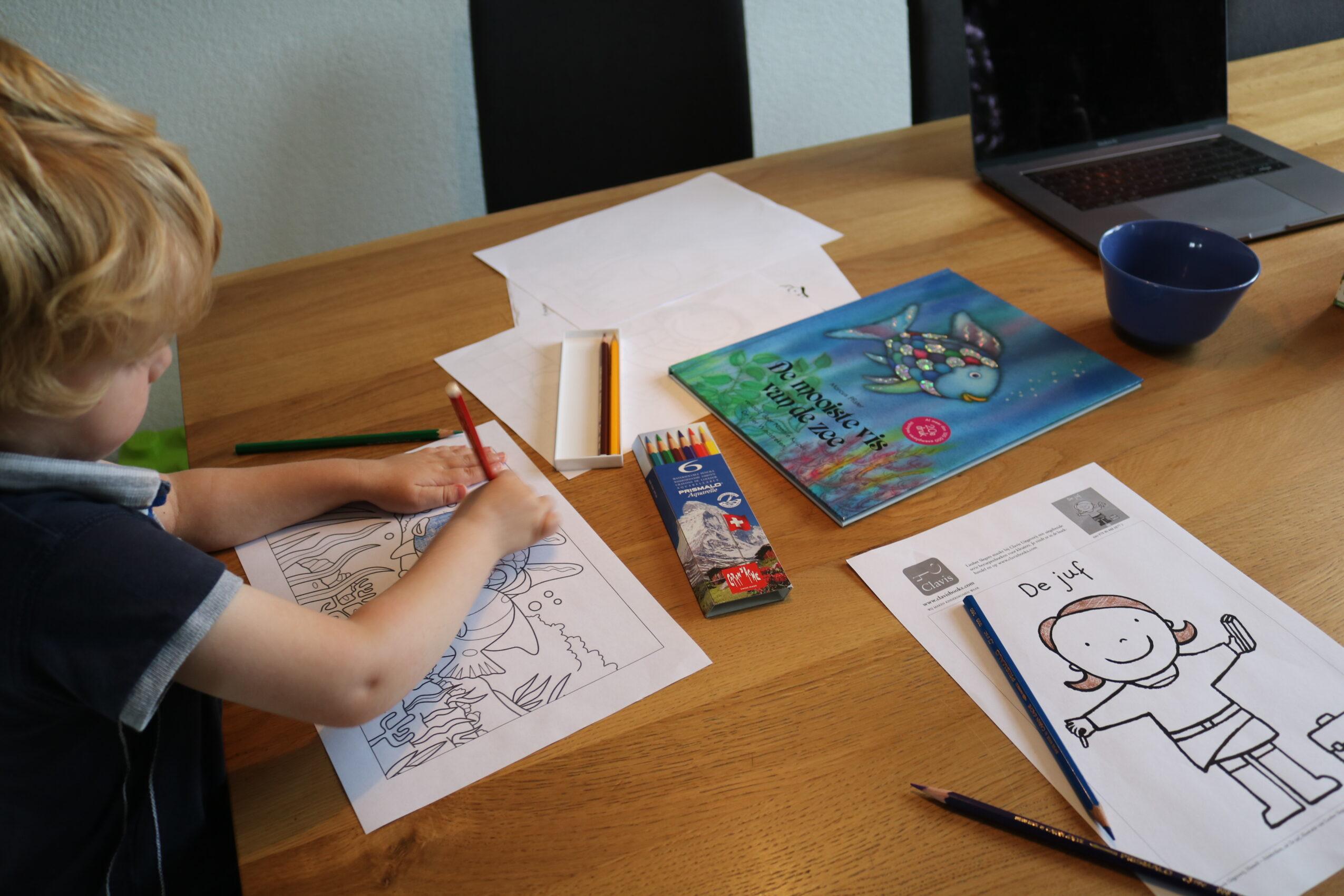 Tekenen met Caran d'Ache Prismalo potloden