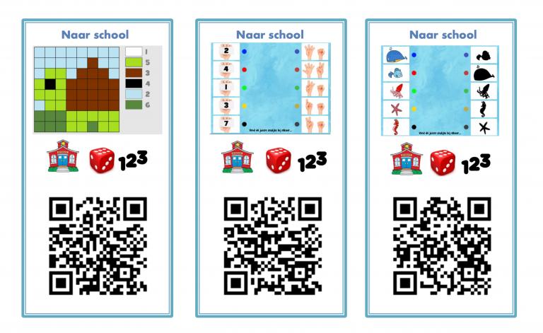 QR-kaarten naar school