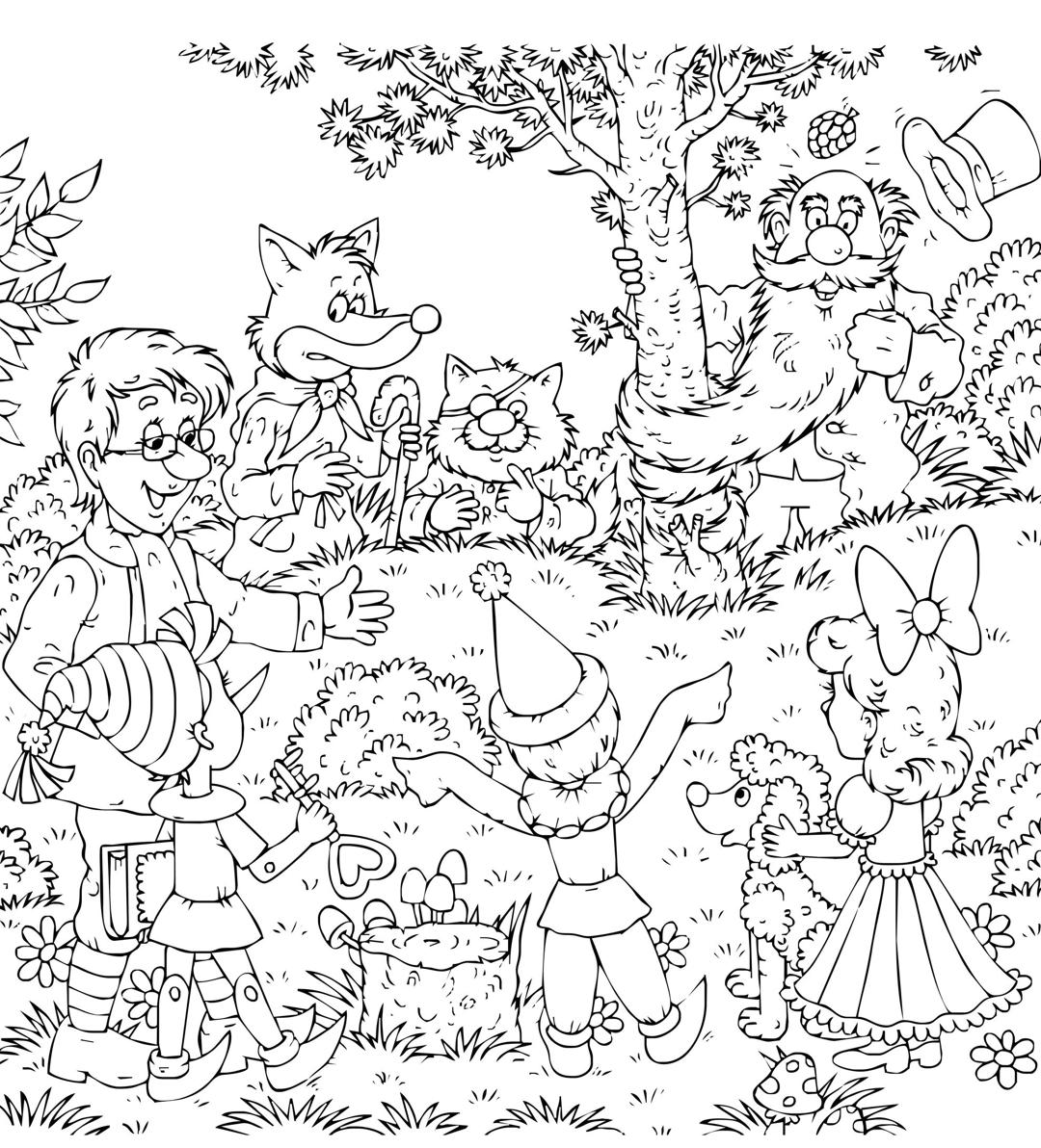 Kleurplaat Pinokkio