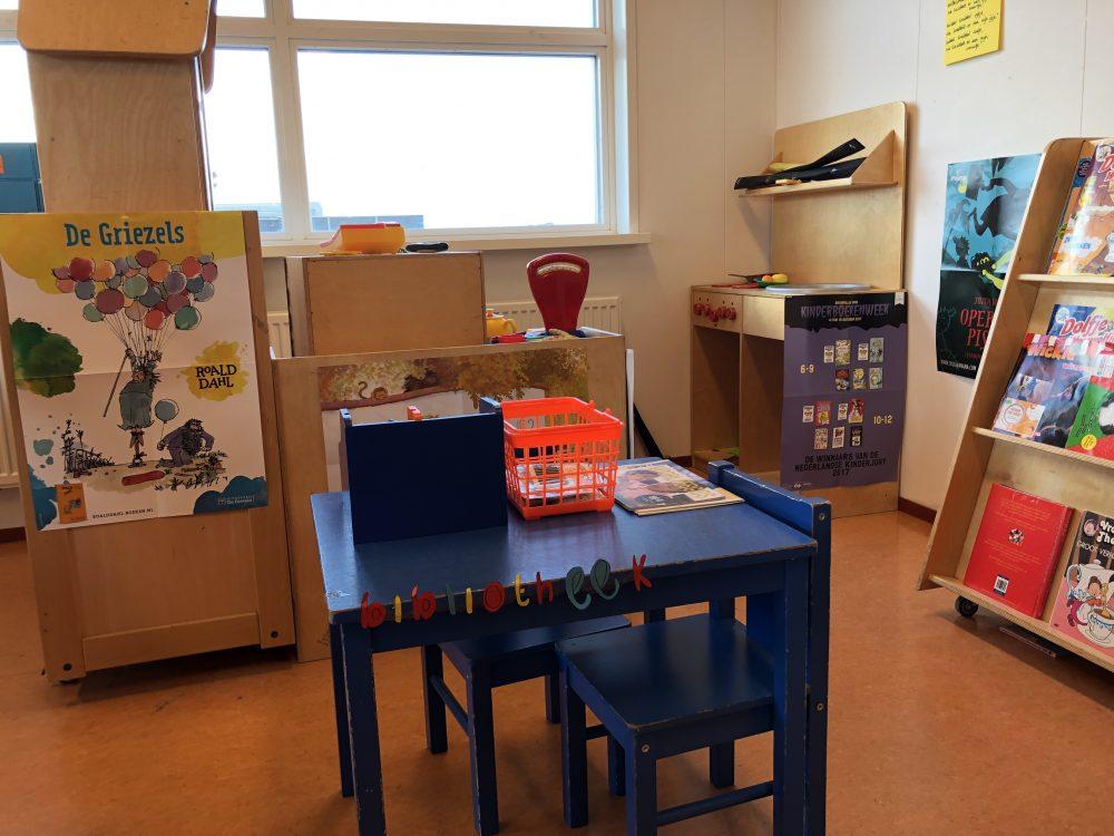 Bibliotheek hoek in de klas