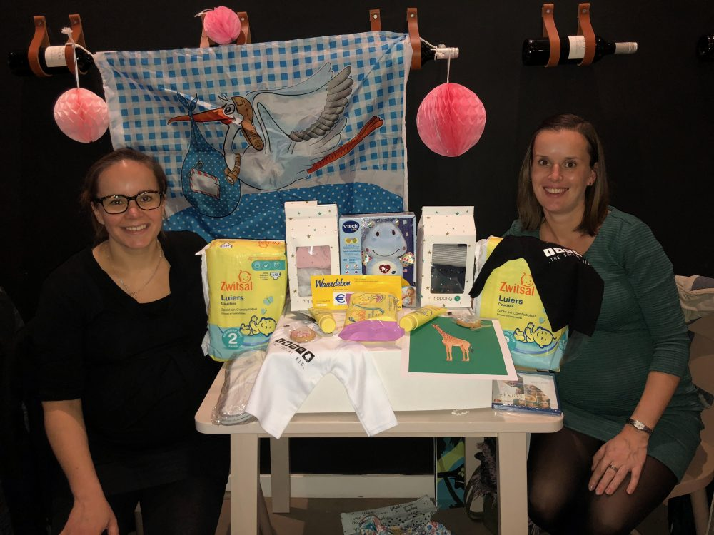 Hoera, een mini babyshower!
