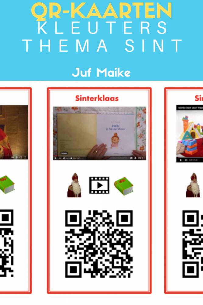QR-kaarten voor kleuters thema Sinterklaas