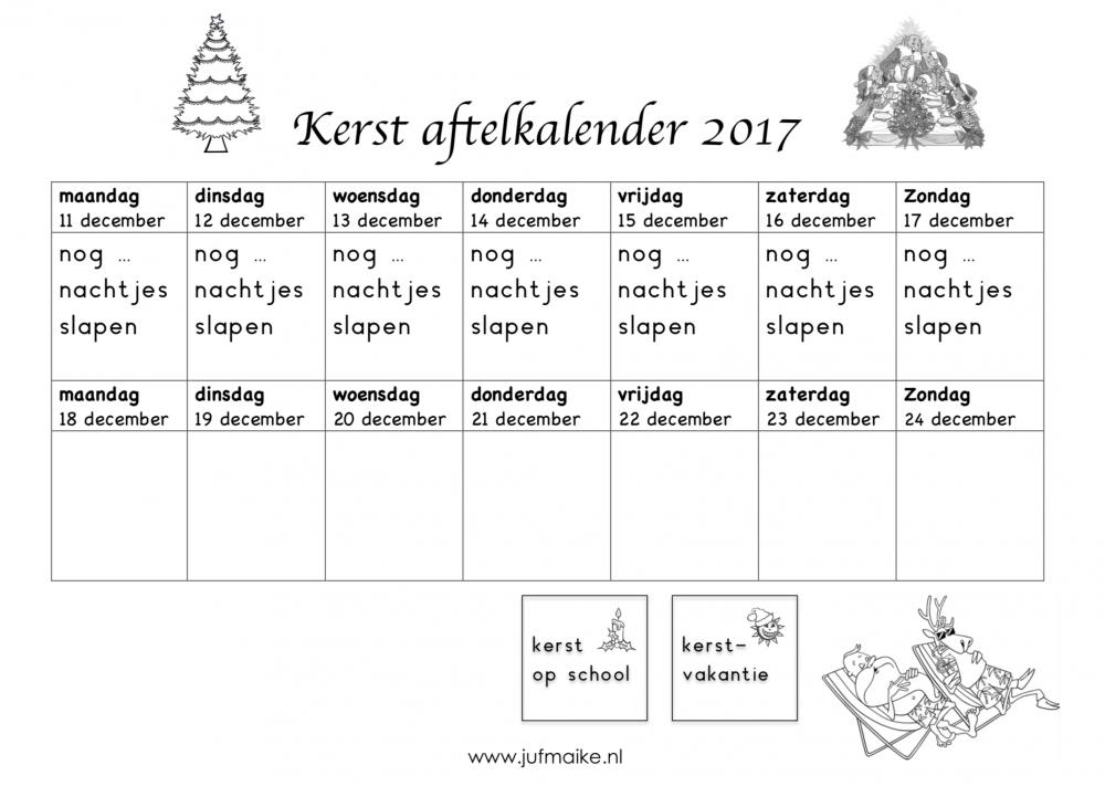 Aftelkalender kerst 2017