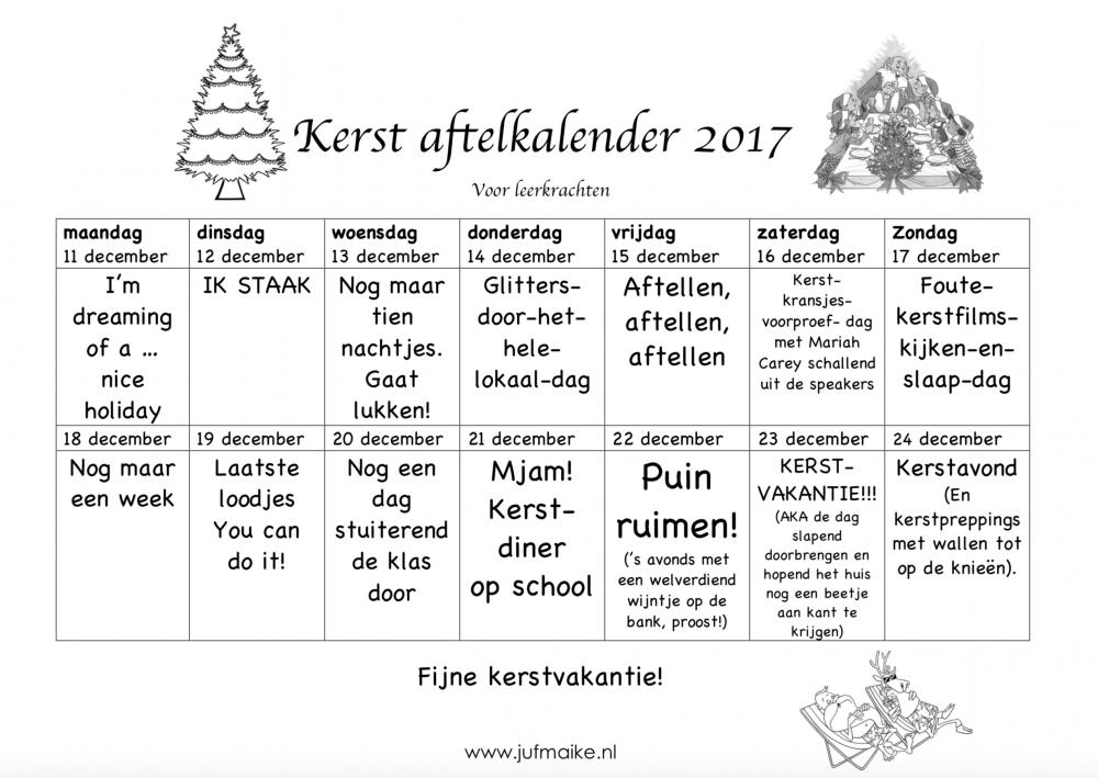 Aftelkalender-kerst-voor-leerkrachten-2017-staken