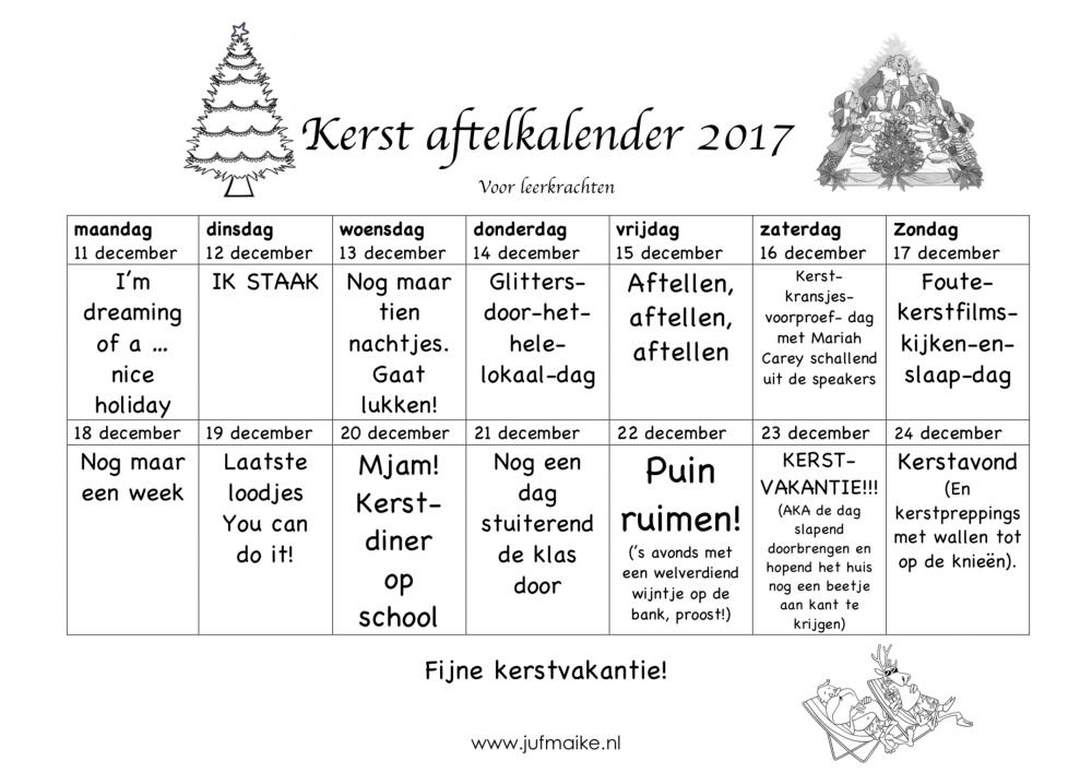 Aftelkalender-kerst-voor-leerkrachten-2017-woensdag-kerstdiner