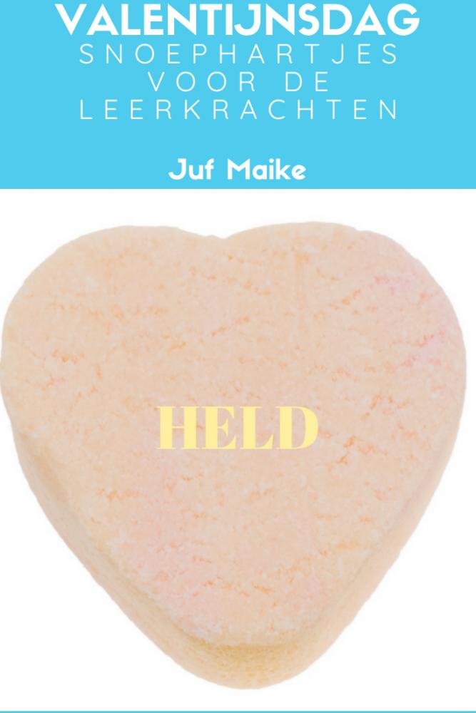 Valentijnsdag; Snoephartjes voor leerkrachten; Cadeautje voor meesters en juffen