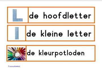 Woordkaarten thema communicatie Kleuterplein