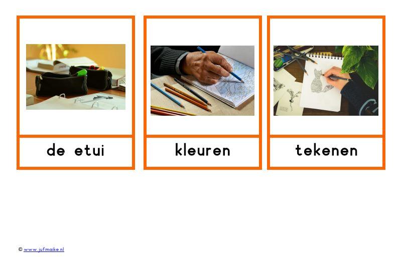 Woordkaarten thema communicatie Kleuterplein
