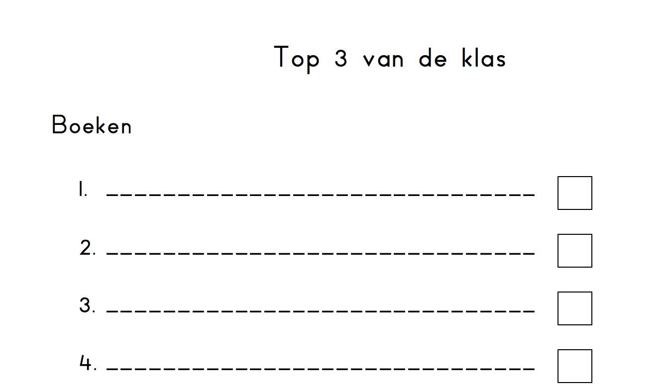 Top 3 van de klas