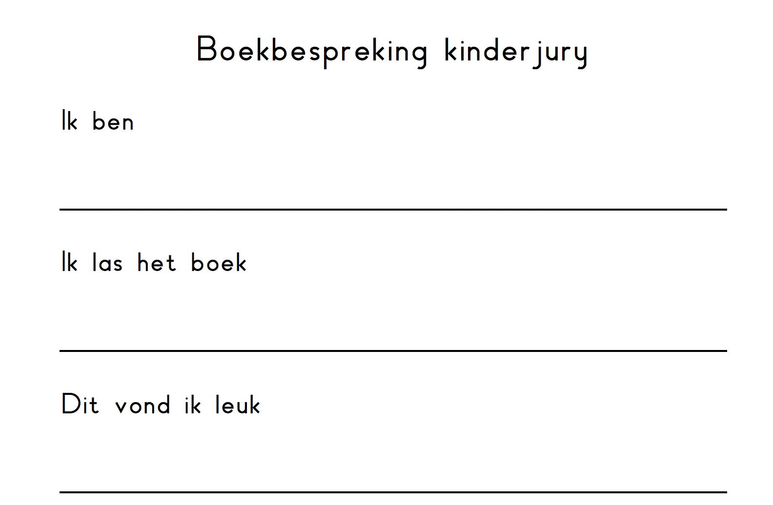 Boekbespreking kinderjury
