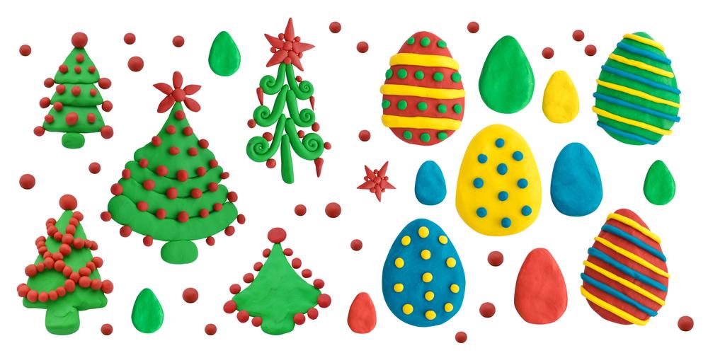 kerstballen kleien