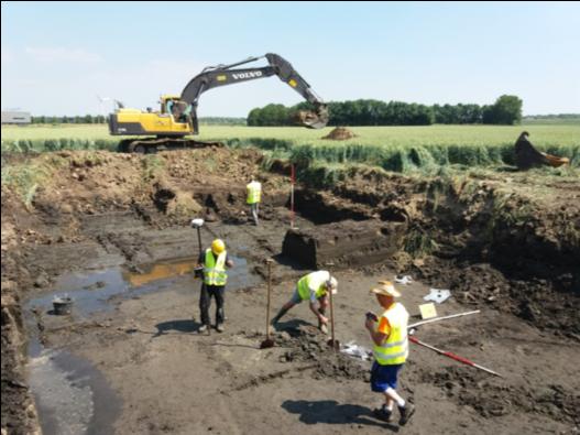 Unieke ontdekking van duizenden jaren oud in de Almeerse bodem. Bron- Gemeente Almere.